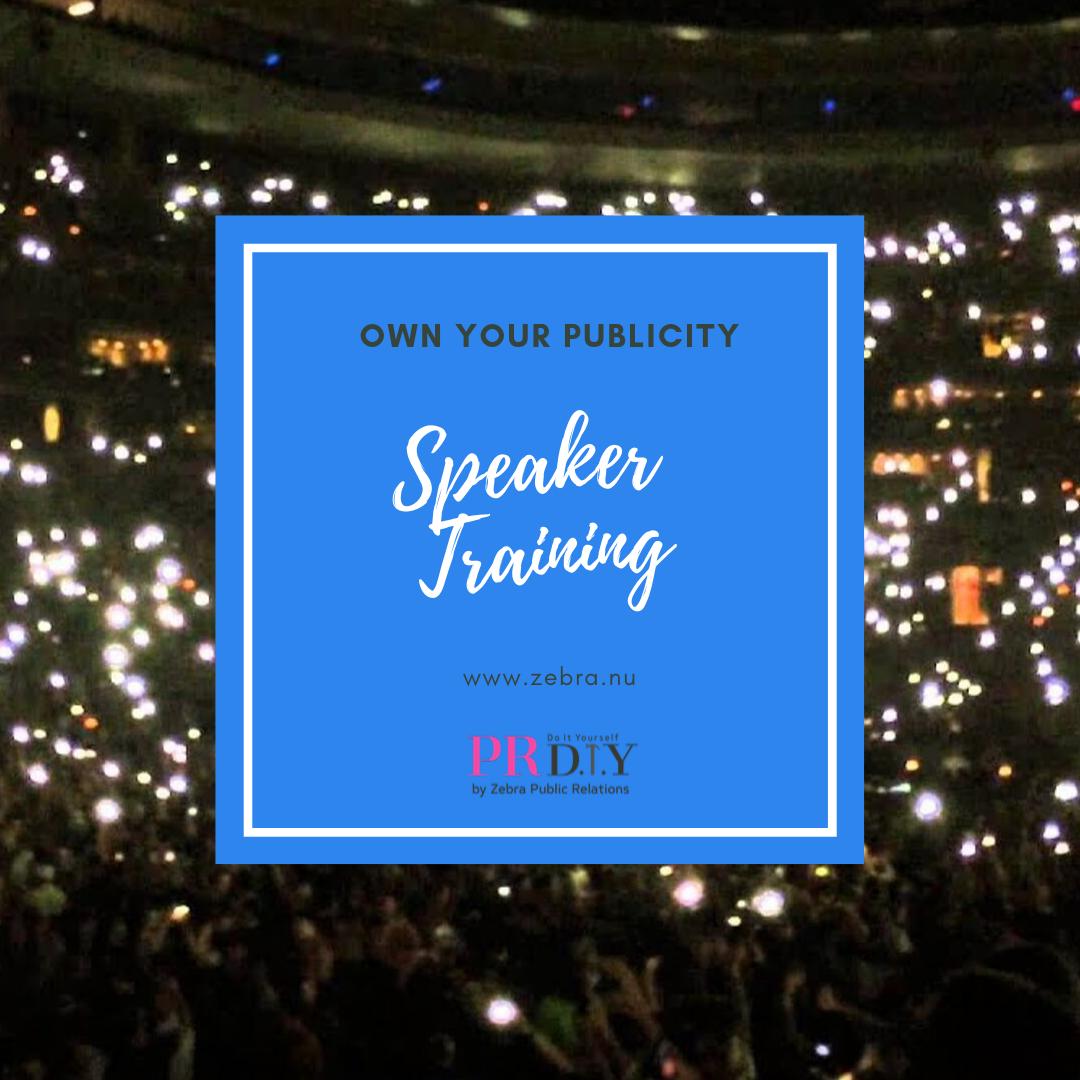 Zebra speaker training banner image